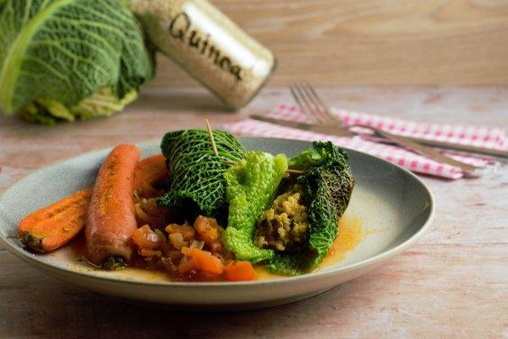 Wirsingrolle mit Quinoa